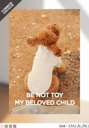 BE NOT TOY COTTON DOG HOOD T