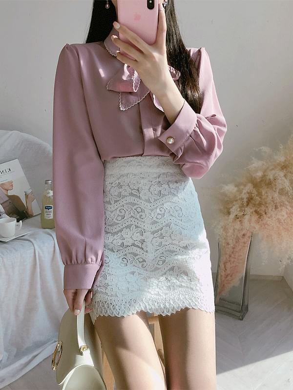 Blushing banding skirt