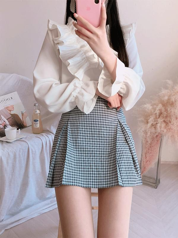 Candy check skirt