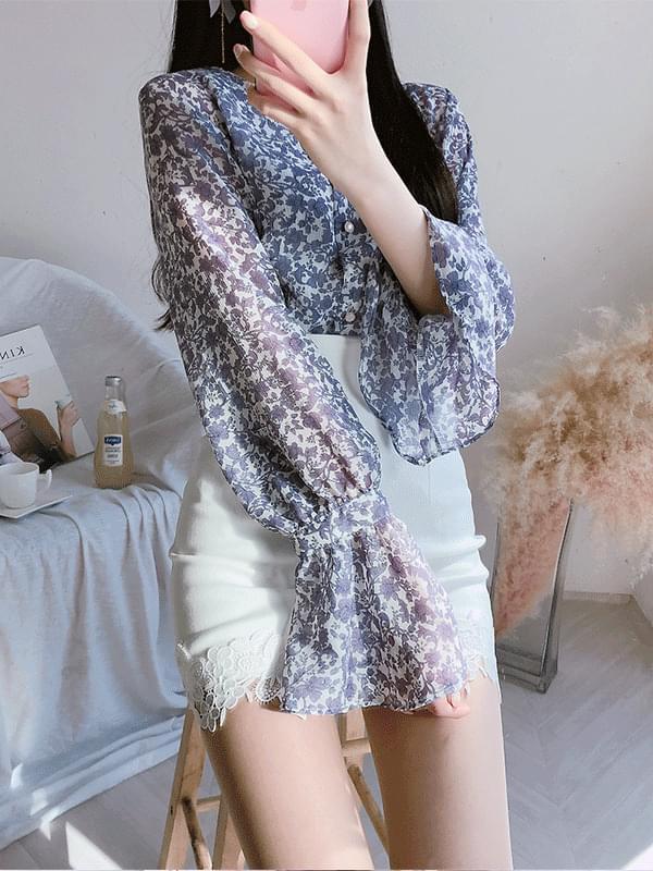 Purple flower blouse