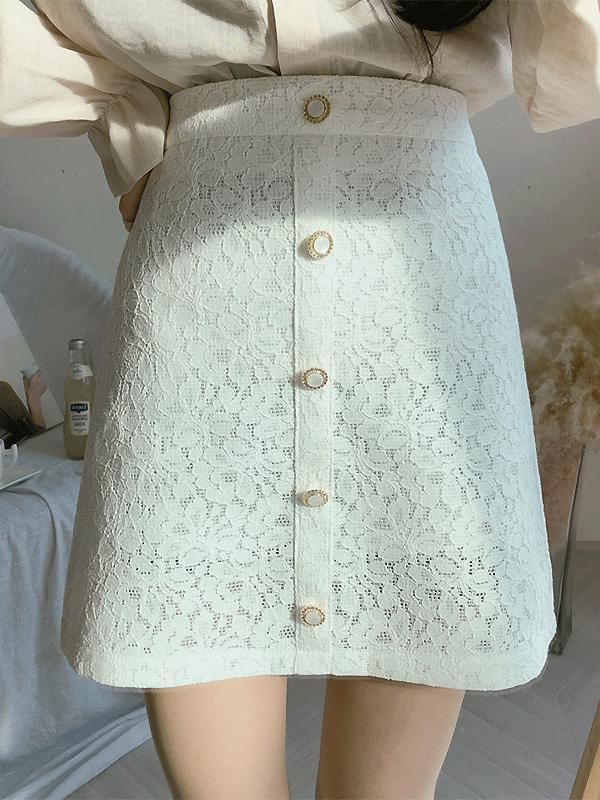 Romantic pearl skirt
