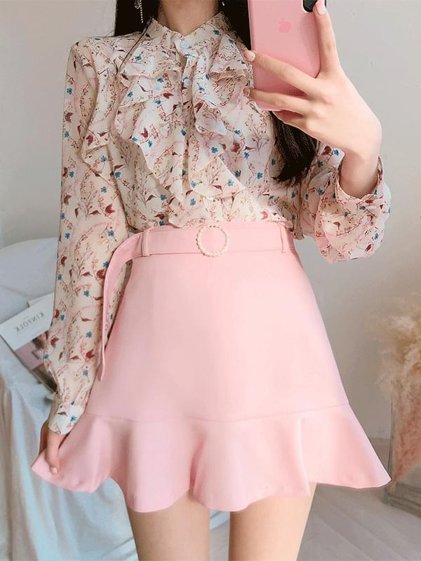 Lily Ring Pearl Belt Skirt