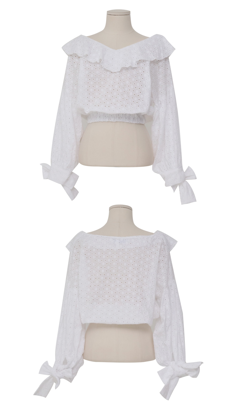 Knock punching crop blouse_Y
