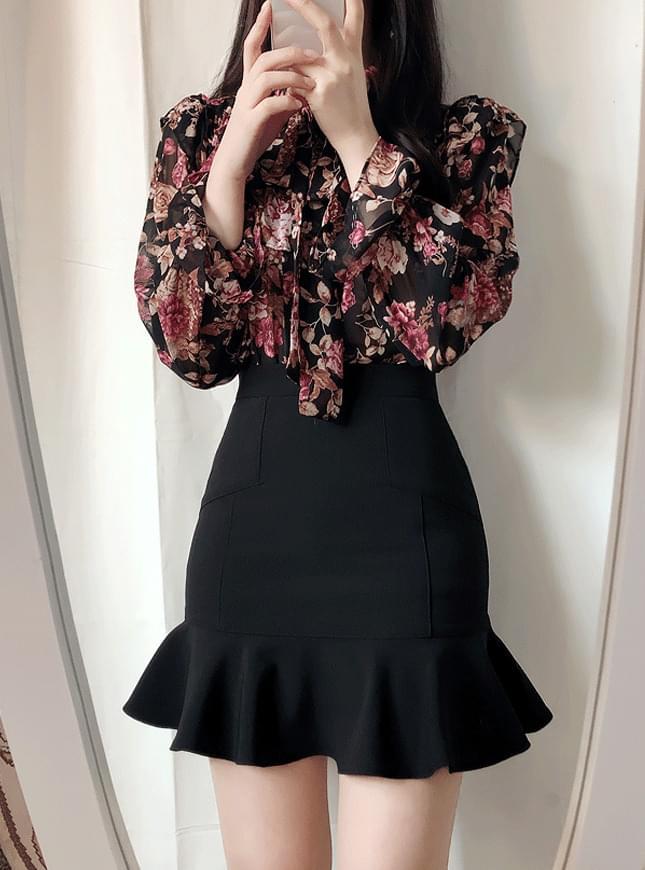♥묘니 절개라인 미니sk(핑크,베이지,블랙)