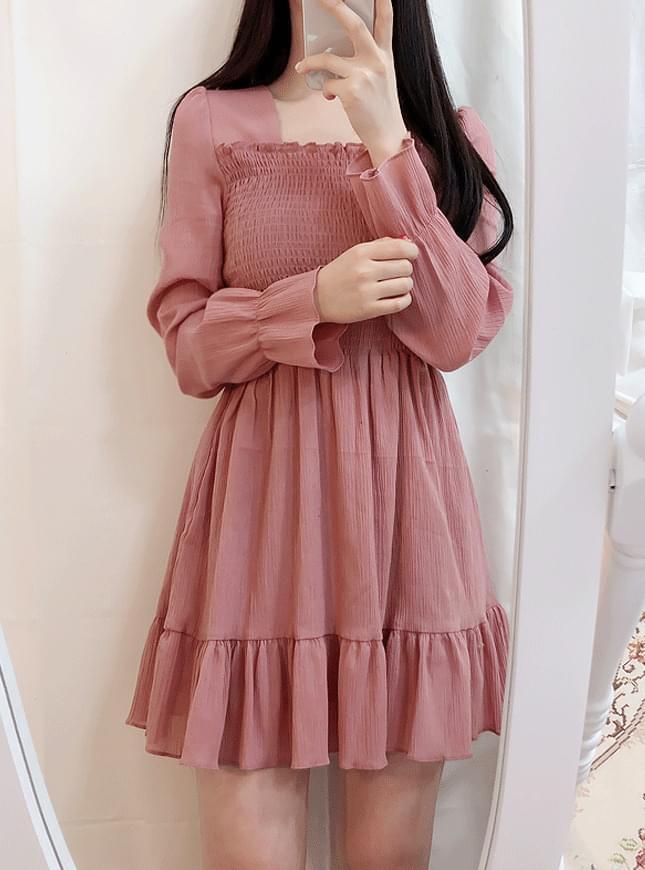 ♥스퀘어 스모크 미니ops(핑크,블랙)