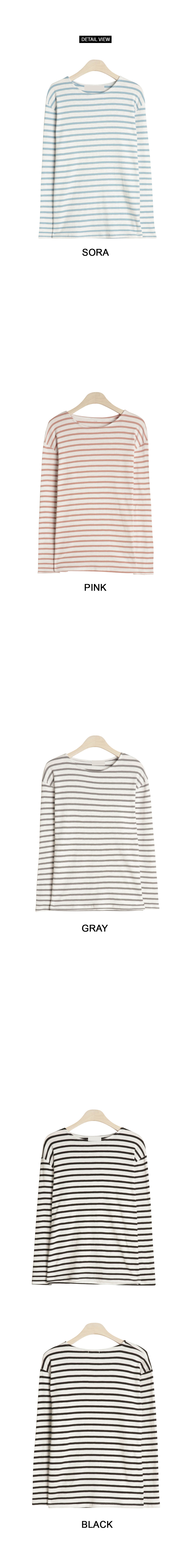 Vera striped long sleeve polo shirt