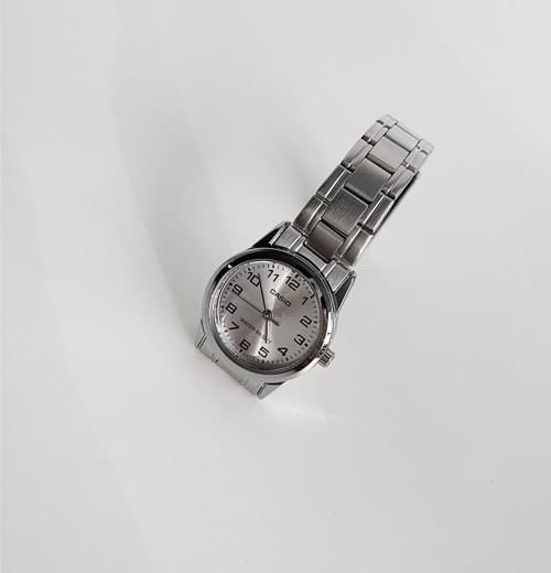 Metal Silver Casio Watch