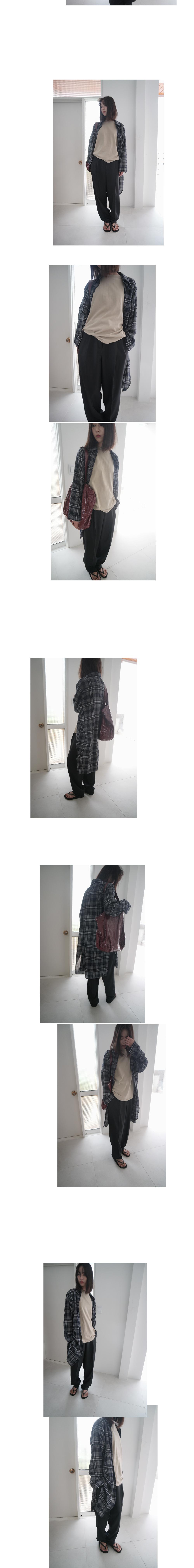 autumn check long shirt (2colors)