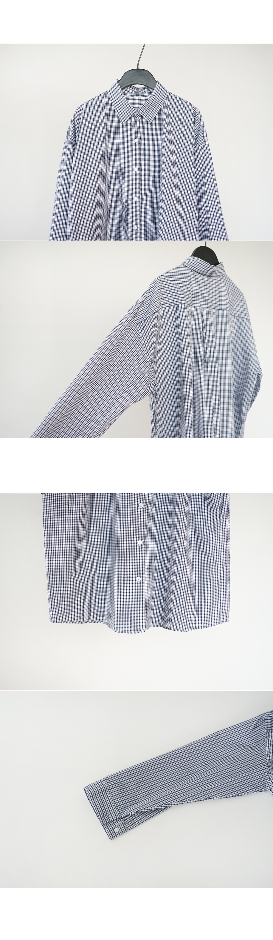 dense check standard shirt (2colors)