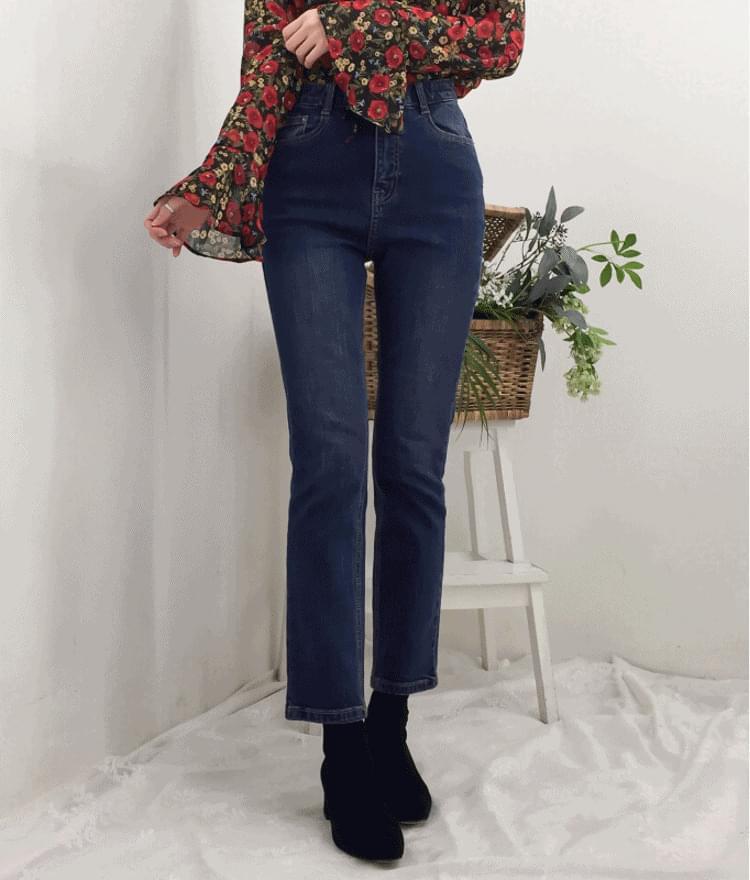 韓國空運 - Faded Wash Straight Cut Jeans 牛仔褲