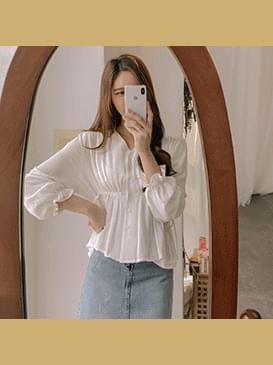 Ruffle mow blouse