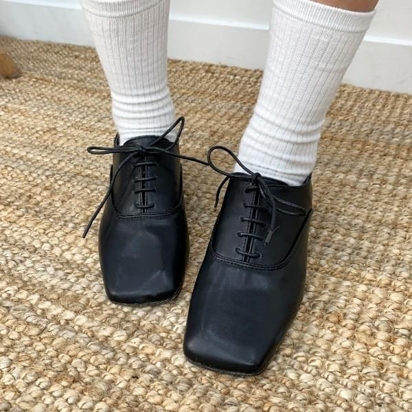 Square coin loafers