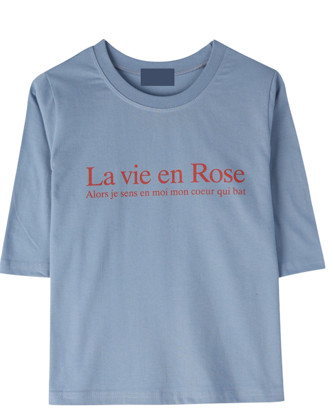 Rose Lettering Short Sleeve Polo Shirt