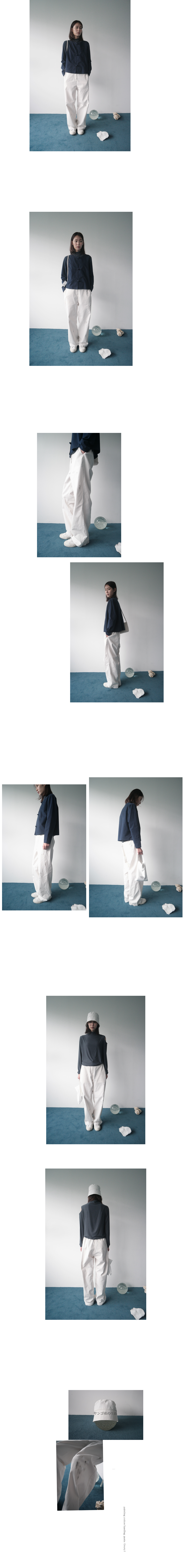 painting cotton banding pants (ivory)