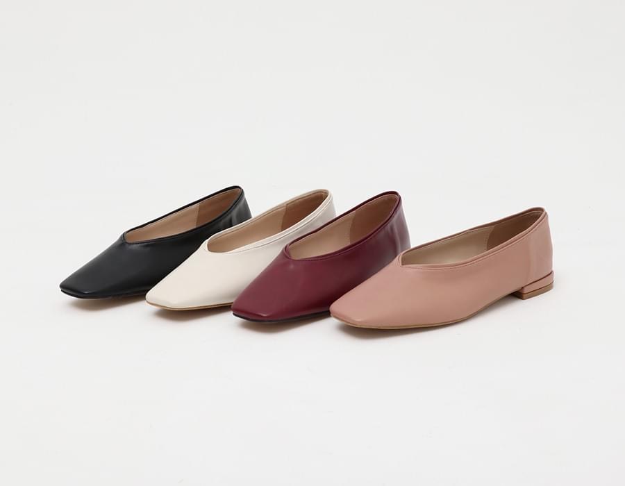 Sharp square flat shoes_K