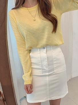 Pastel mini striped knit