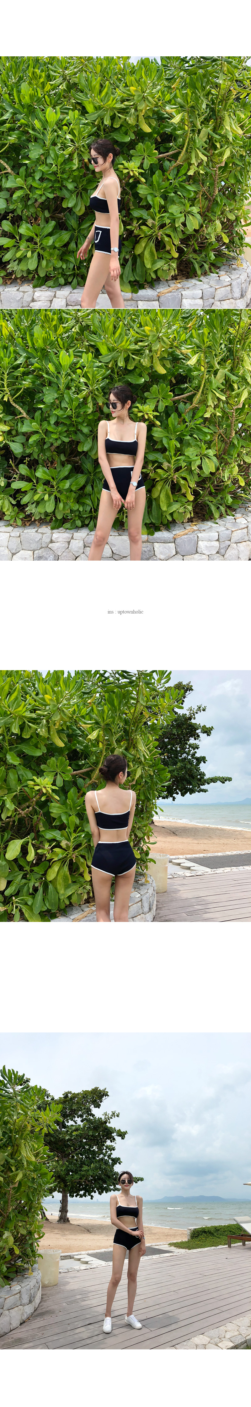 Pocket two-piece bikini (* 3color)