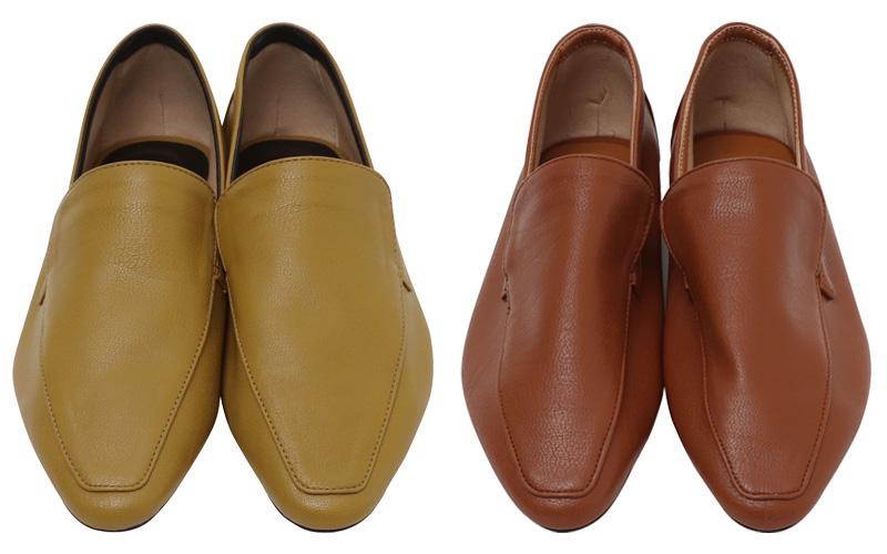 Mild leather color shoes_J