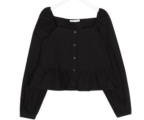 april square frill blouse