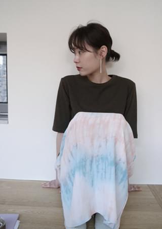 watery printing banding skirt