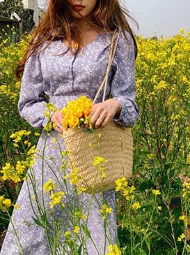 Square Love Flower Long Dress