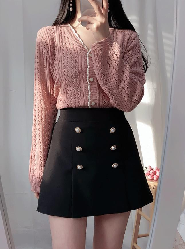 Cotton-colored dressing cardigan nt