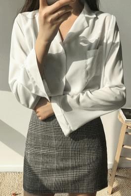 Ready-open collar shirt