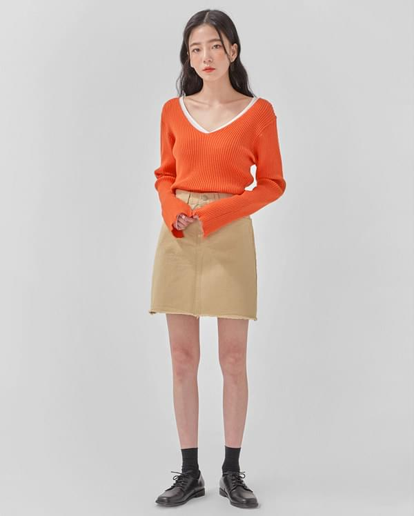 great cotton mini skirt
