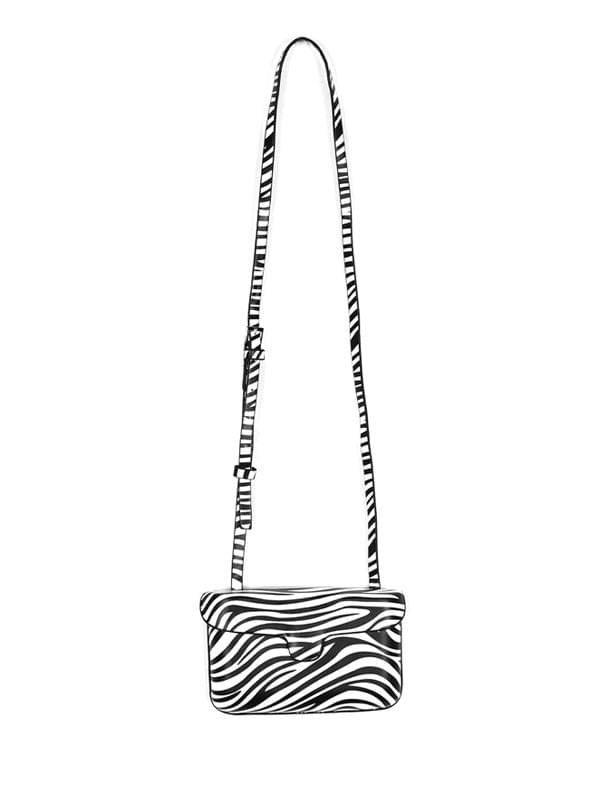 zebra mini cross bag