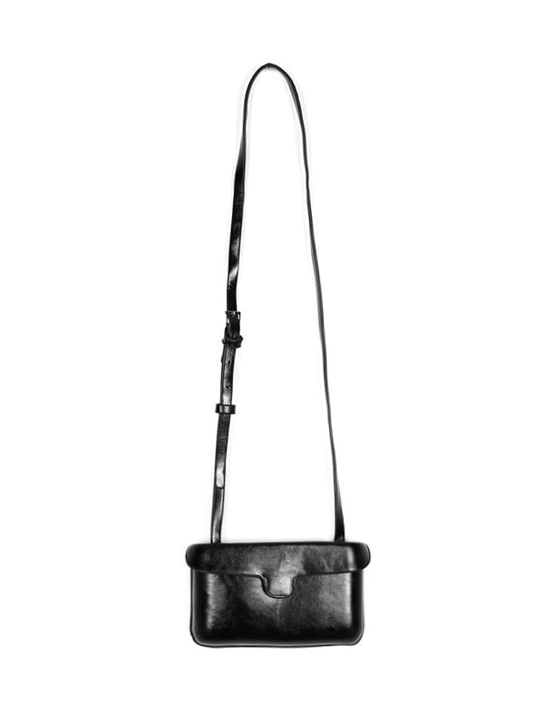 glossy leather mini cross bag