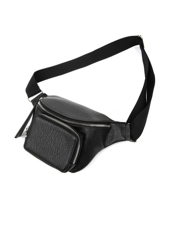 leather mini fanny bag