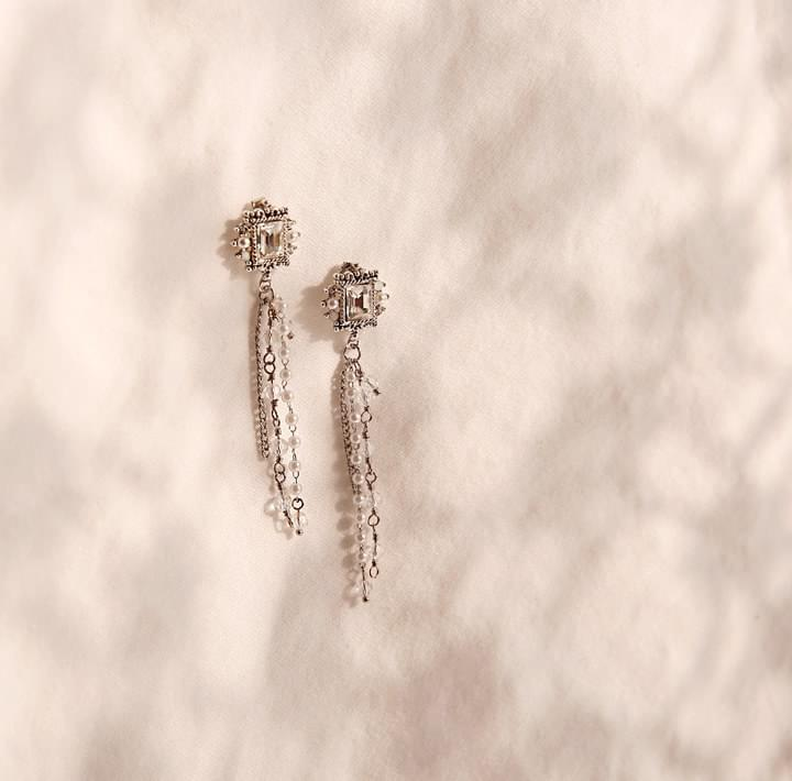 RAYLEIGH SQUARE DROP EARRING