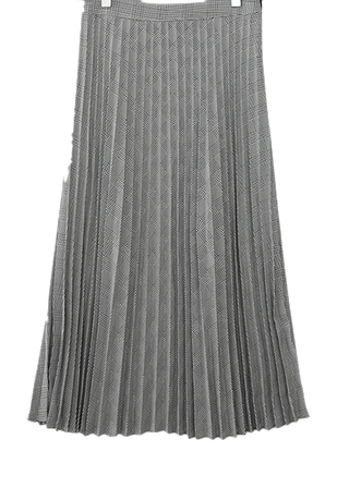 Classic check pleated skirt