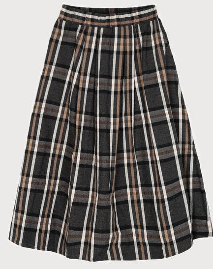 Washing check skirt