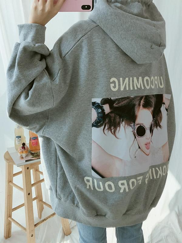 Coming back print hoodie