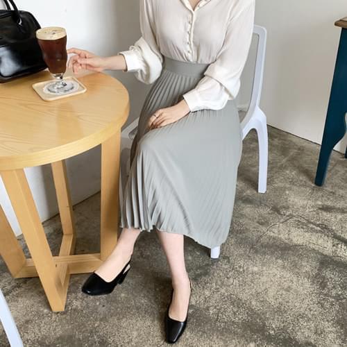Eiffel pleated long skirt