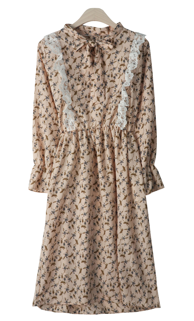 Flower frilly lace dress