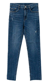 Pitch denim pants