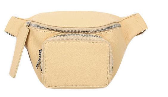 leather mini fanny bag (2 color)