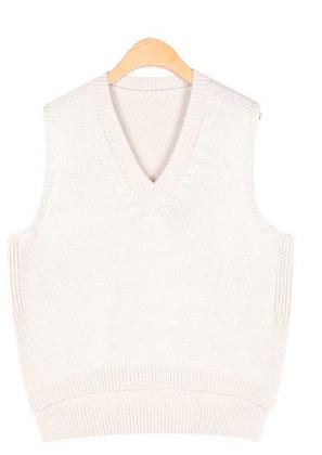 side slit simple vest