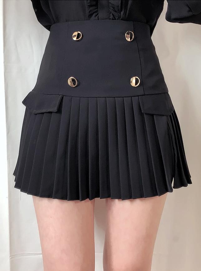 Royal Golden Wrinkle Skirt Pants