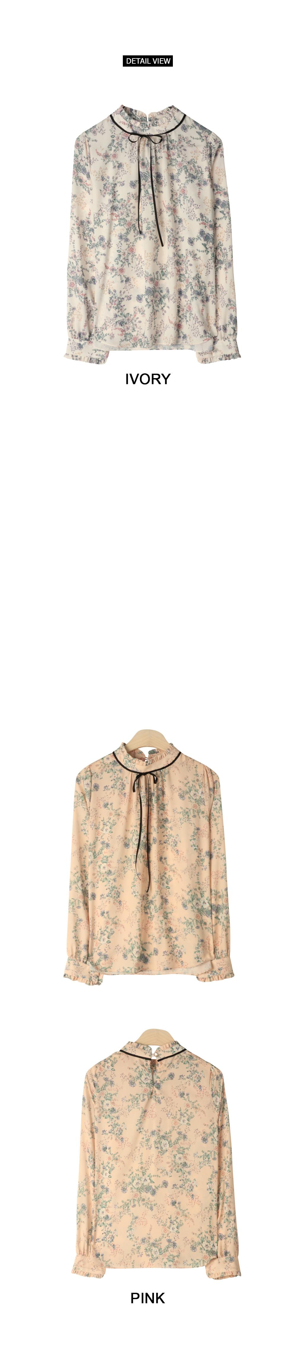 Lydia Flower Ribbon Blouse