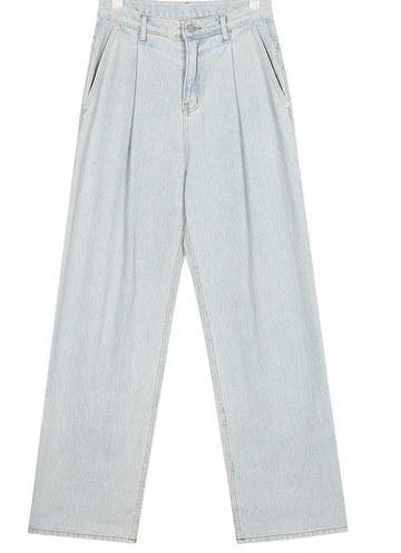 ball roll-up denim pants (s, m)