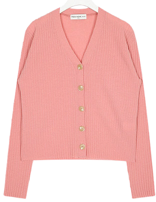 FRESH A button wool cardigan