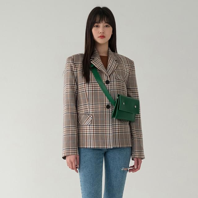 wearable vintage check jacket