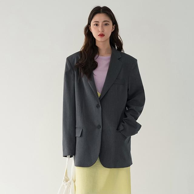 two button over fit jacket