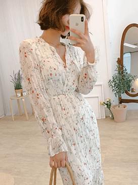 Lap Anna Flower Long Dress
