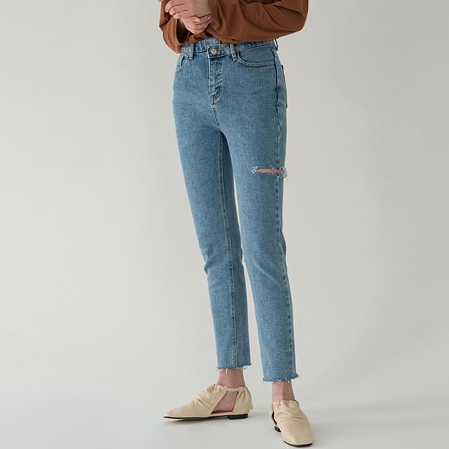 Damage semi-skinny jeans 牛仔褲