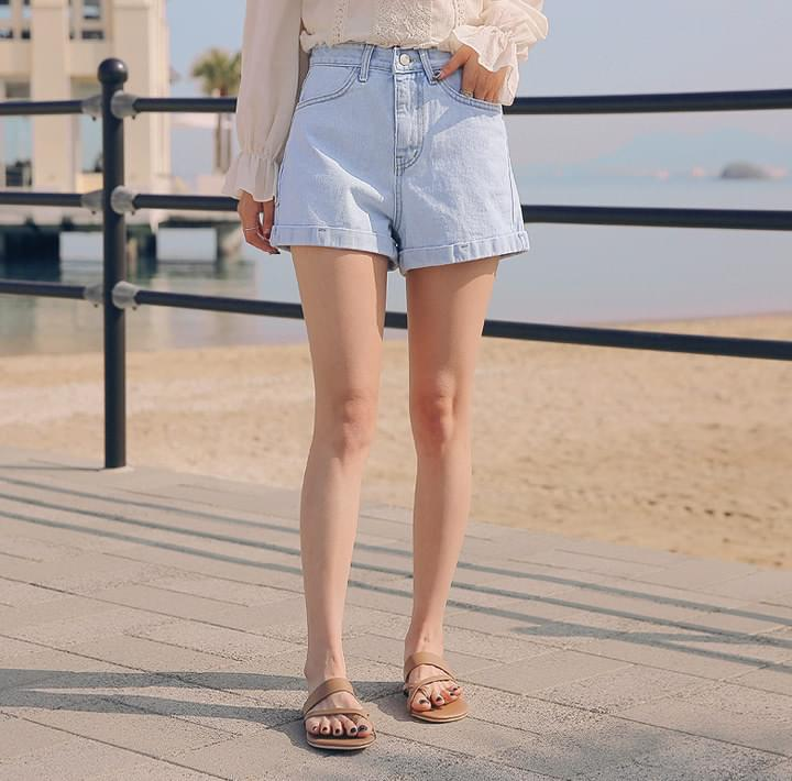 CENSI ROLL UP DENIM SHORTS