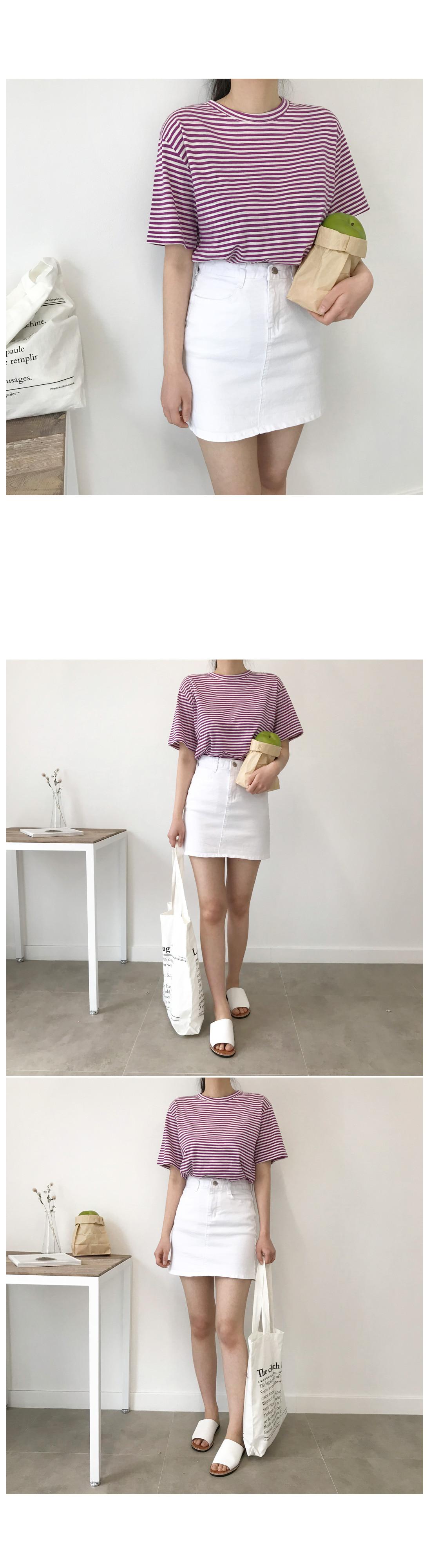 Lori mini skirt - White, Black M size ships same day